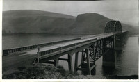 1935 Press Photo Central Ferry Bridge - Snake River between Colfax & Walla Walla