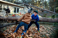 BODE GARDNER, JOAH FREY REMOVE TREE LIMBS