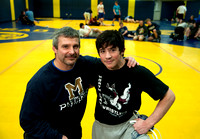 MEAD WRESTLING COACH PHIL McLEAN AND SON TYLER