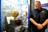 BUTCH WALTERS WITH STATE BASKETBALL TROPHY
