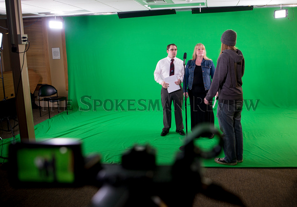 "EWU STUDENTS DURING A TAPING OF ""SAY WHAT SPOKANE!"""