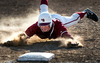 COOPER SMITHS SLIDES SAFELY INTO THIRD BASE