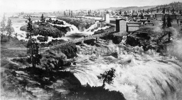 SPOKANE AND SPOKANE FALLS, LATE 1880s
